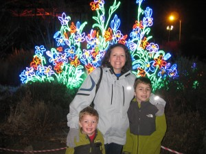 Me and the boys enjoying the lights