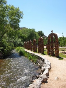 The beautiful grounds at Chimayo'.