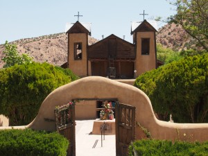 El Santuario Chimayo It was built in 1816. It has a reputation as a healing site. Believers claim dirt from a back room in the church can heal physical and spiritual ills.
