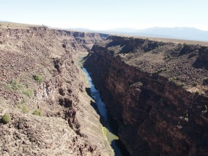 A view of the Rio Grande River. It is the fourth longest river in North America.