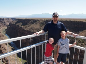 Bill, Billy and Baden on the Rio Grande Gorge Bridge.