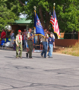 The Scouts starting the parade